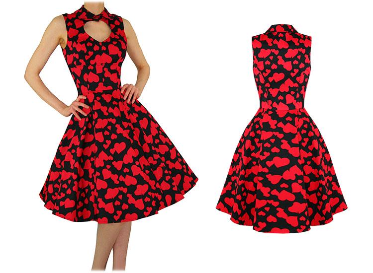 Red dress heart rock