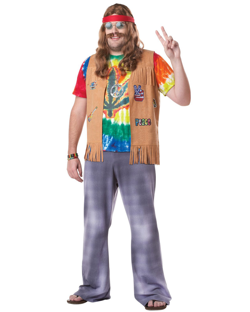 Mens 6039;S 7039;S Peace Groovy Halloween Fancy Dress Adult Costume |