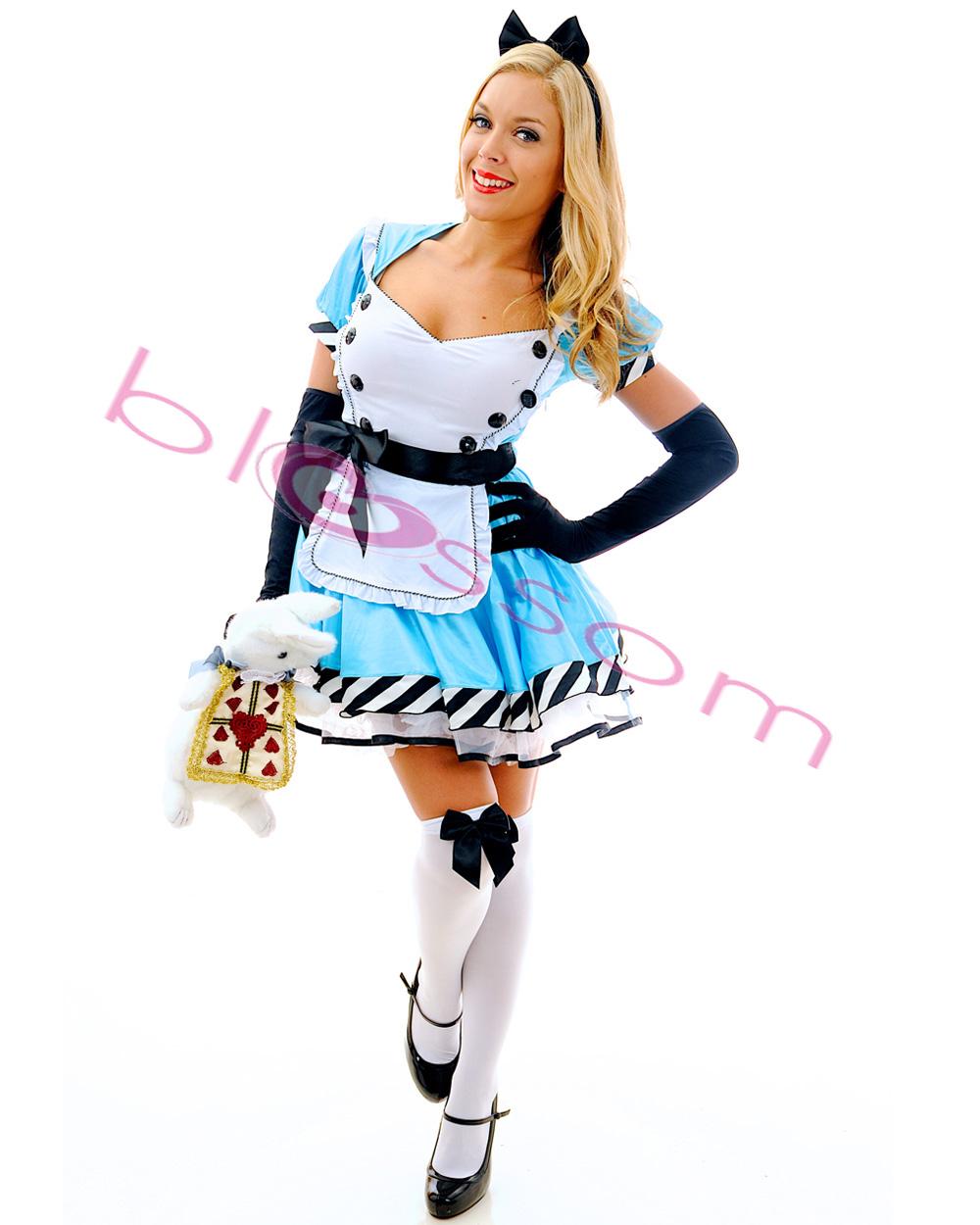 K53 Ladies Alice In Wonderland Disney Fancy Dress Up Party Halloween Costume | EBay