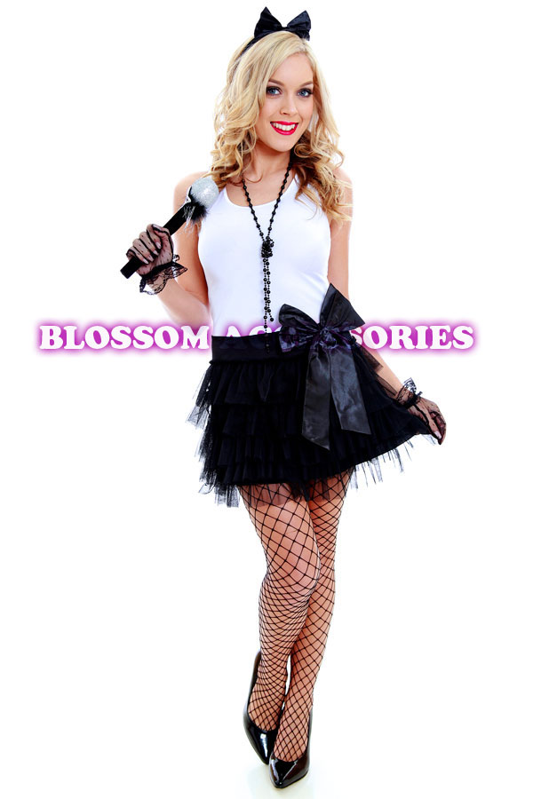 Madonna black dress 80s dress