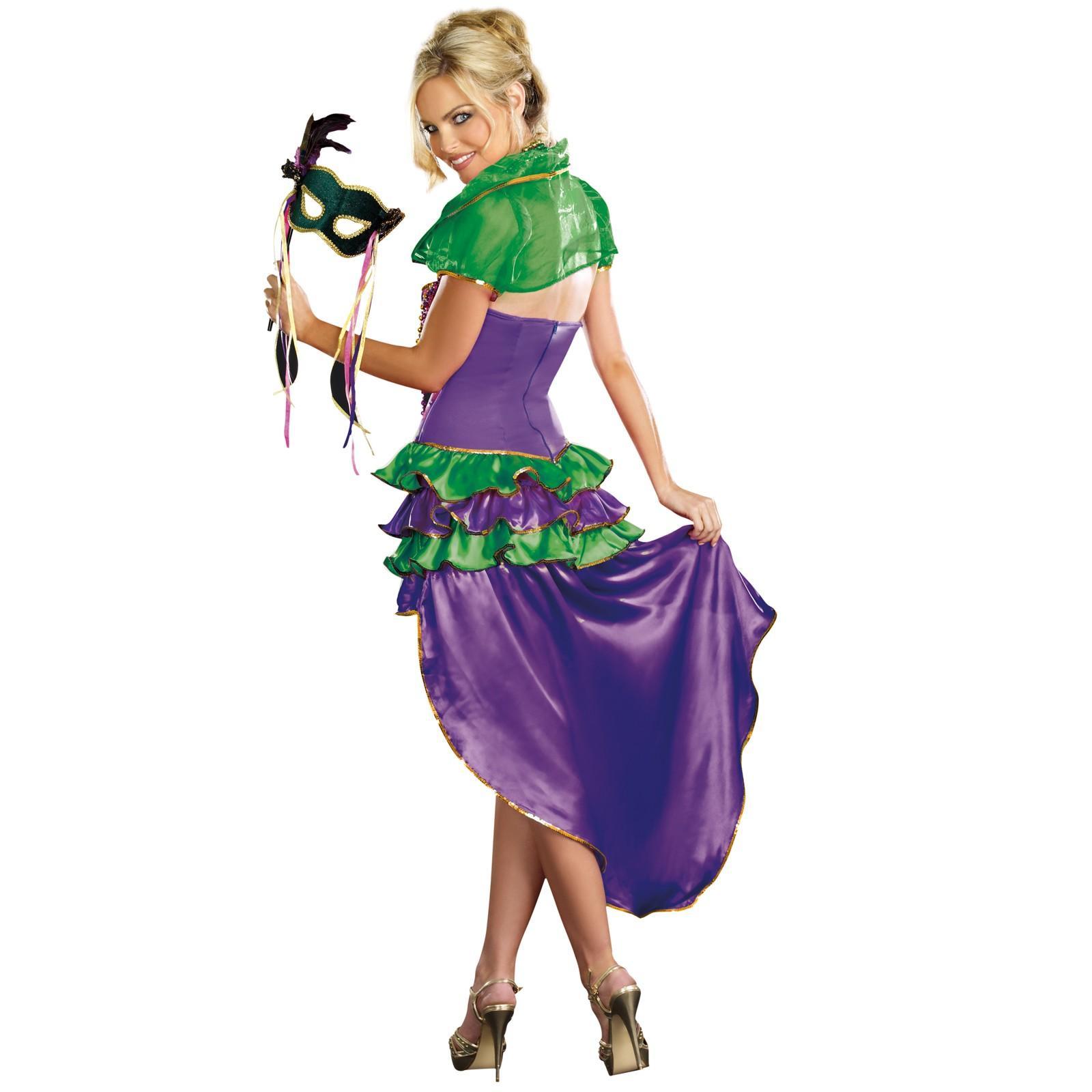 CL284 Mardi Gras Maven Jester Masquerade Ball Queen Parade Party Outfit Costume | eBay
