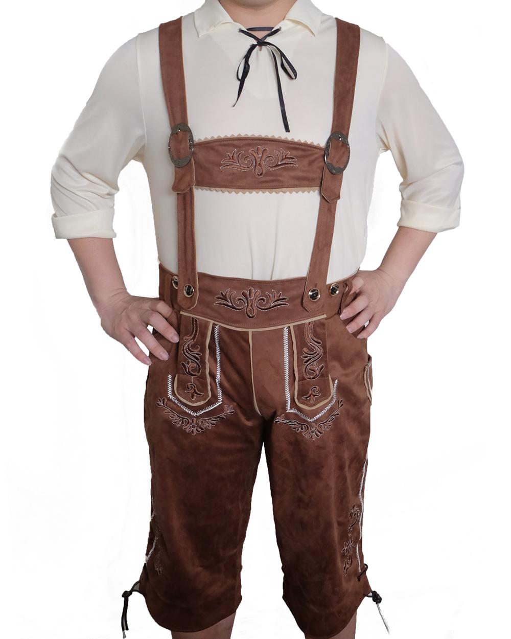 k94 authentic german brown long lederhosen oktoberfest. Black Bedroom Furniture Sets. Home Design Ideas