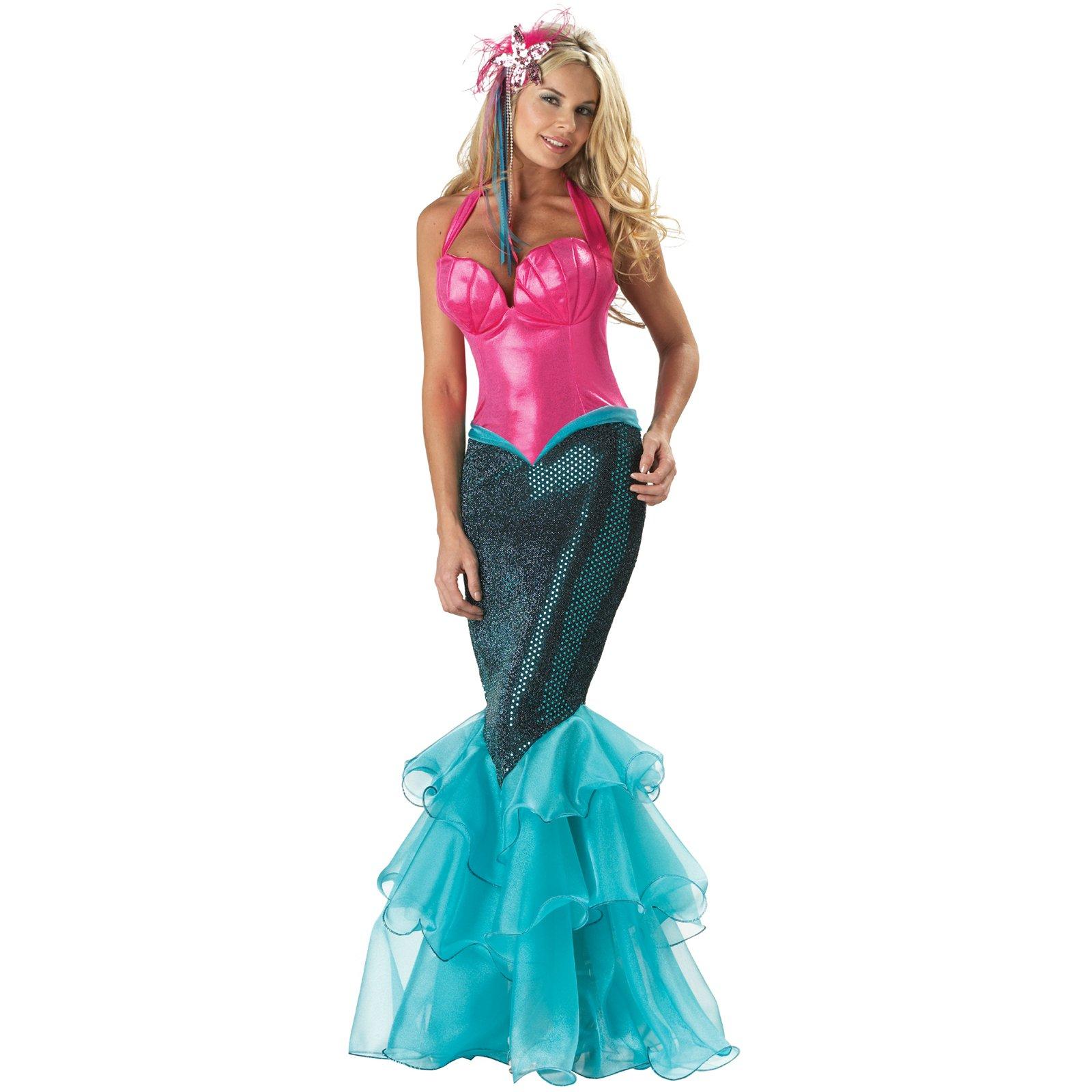 Description Princess Ariel Dress Costume For Adults