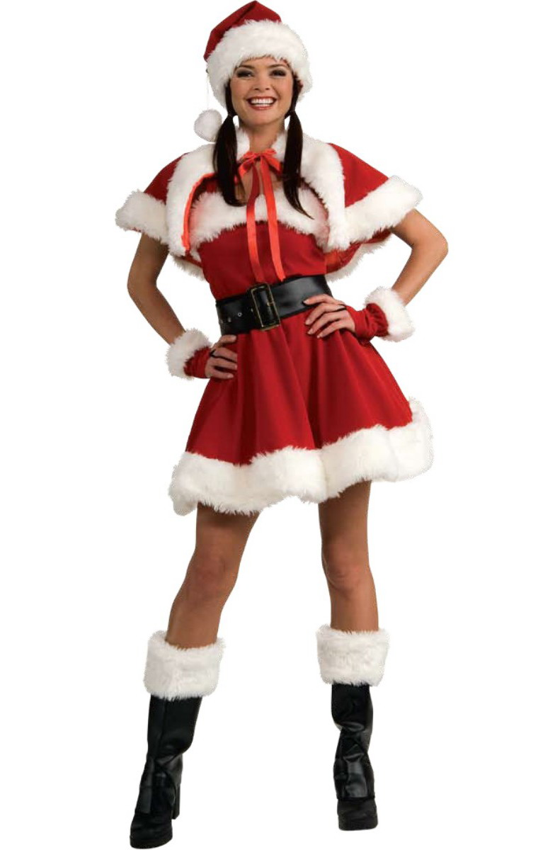 F deluxe mrs santa claus christmas fancy dress costume