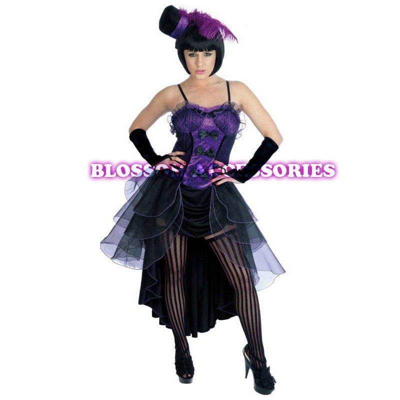 G46 BURLESQUE Ladies SALOON Paris Showgirl Fancy Dress Costume+ Hat | EBay