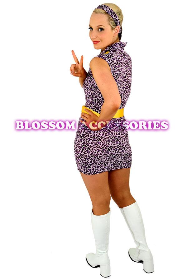 ... 60s 70s Retro Hippie GO GO Girl Disco Fancy Dress Halloween MOD