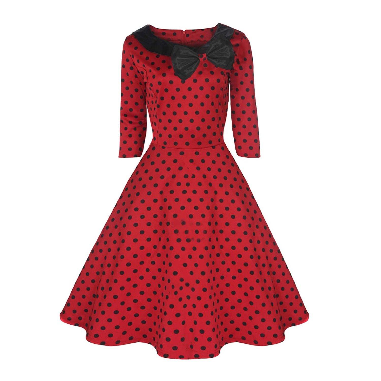 Plus Size Rockabilly Swing Dress Uk - Long Dresses Online