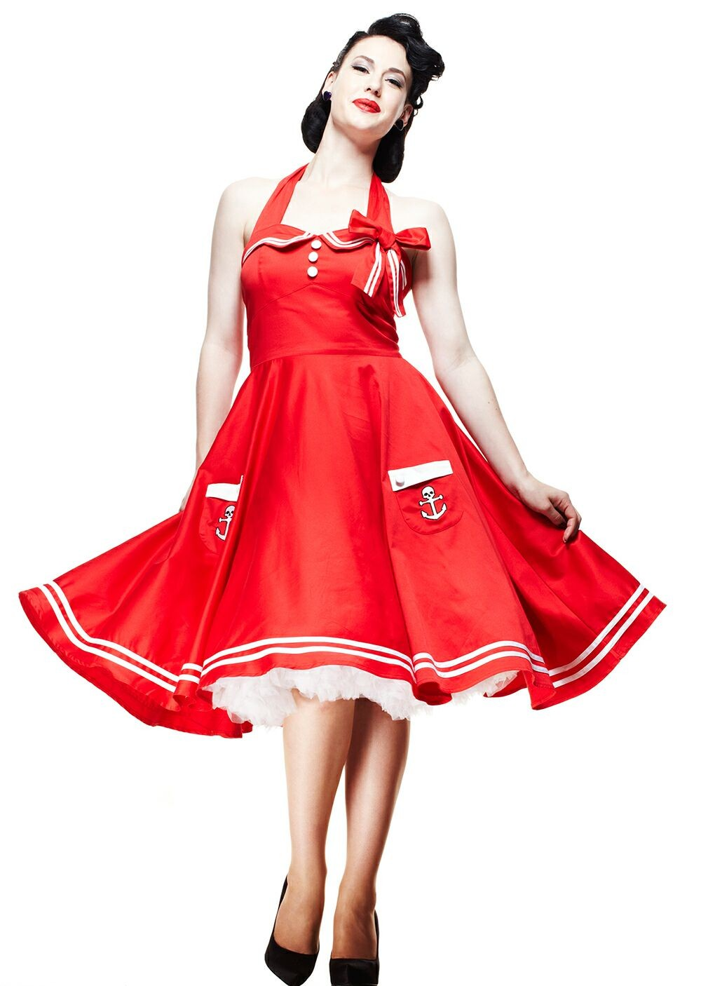 Size 6 red dress 50s style