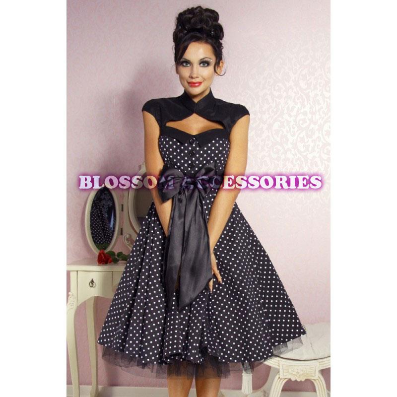 rk38 rockabilly polka dot 50s 60s swing dance dress pin up. Black Bedroom Furniture Sets. Home Design Ideas