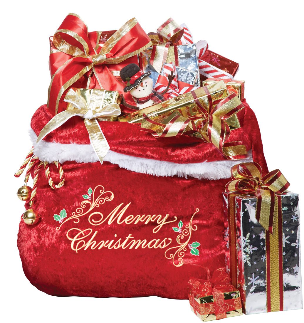 Santa S Bag Of Toys : A santa claus red toy sack embroidered bag christmas