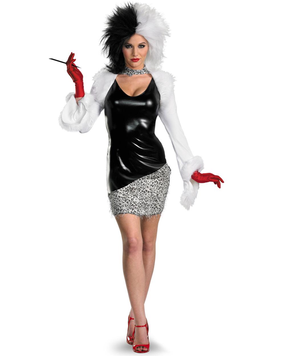 cl491 sassy evil madame costume cruella de vil 101. Black Bedroom Furniture Sets. Home Design Ideas