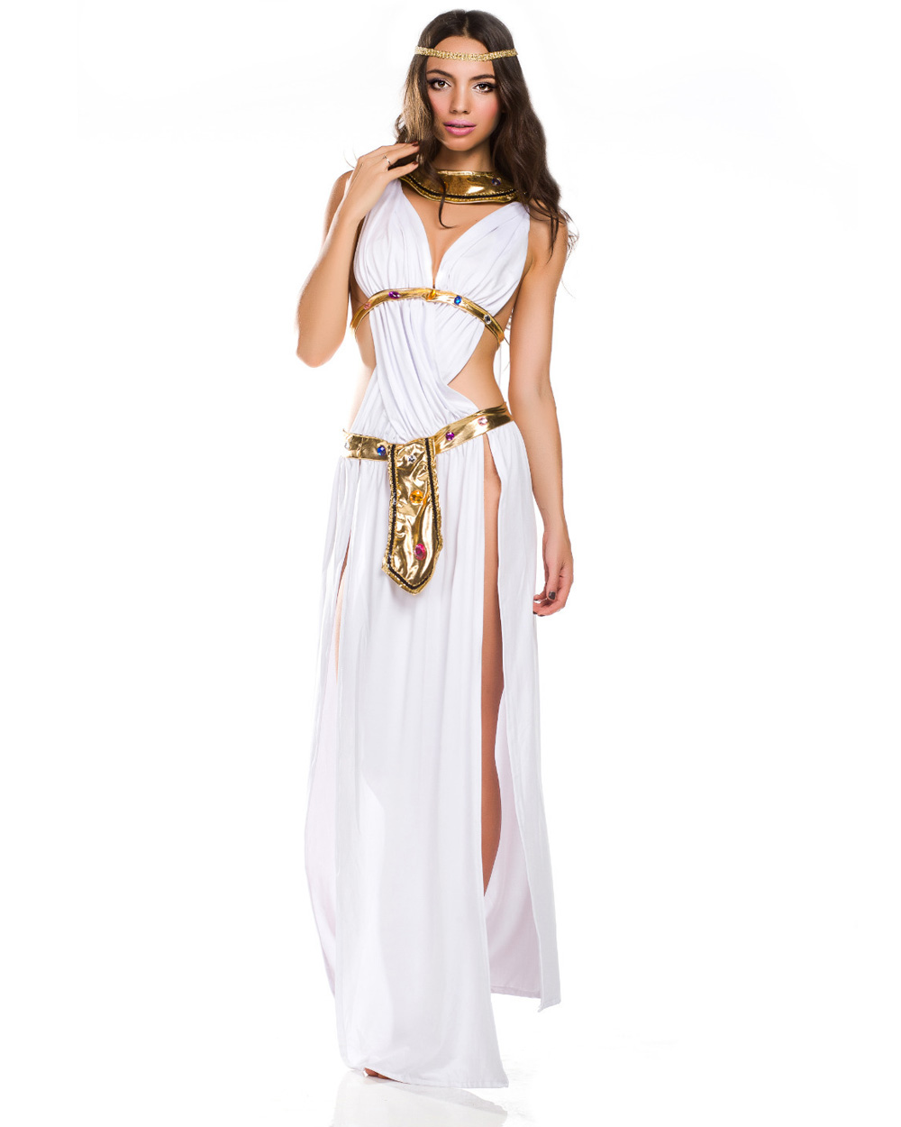 k49 ladies cleopatra roman toga robe greek goddess fancy dress