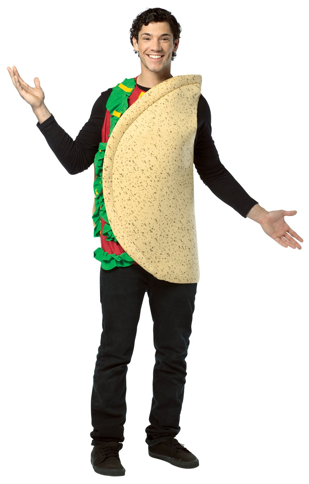 C627 Mens Funny Light Weight MEXICAN TACO Food Adult