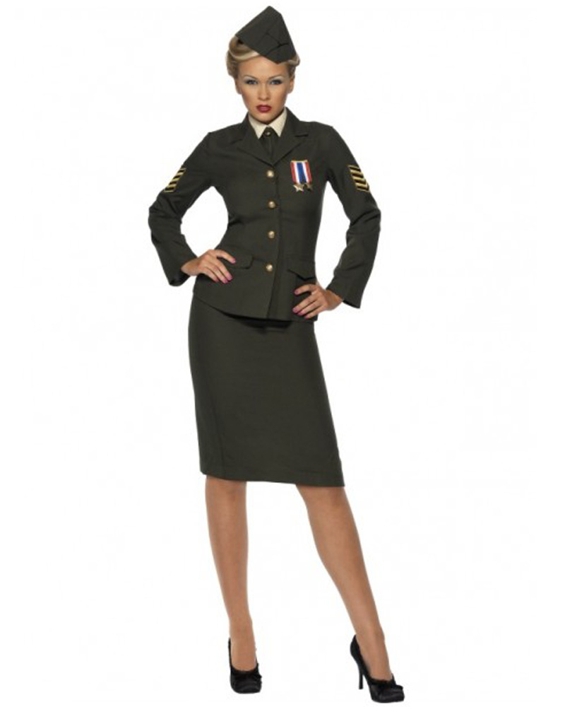CL199 Womens Wartime Officer Army Military Uniform Fancy ...
