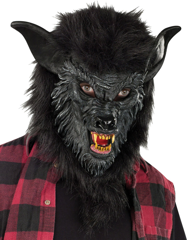 A252 Deluxe Wolf Man Werewolf Halloween Adult Mask Scary Costume ...