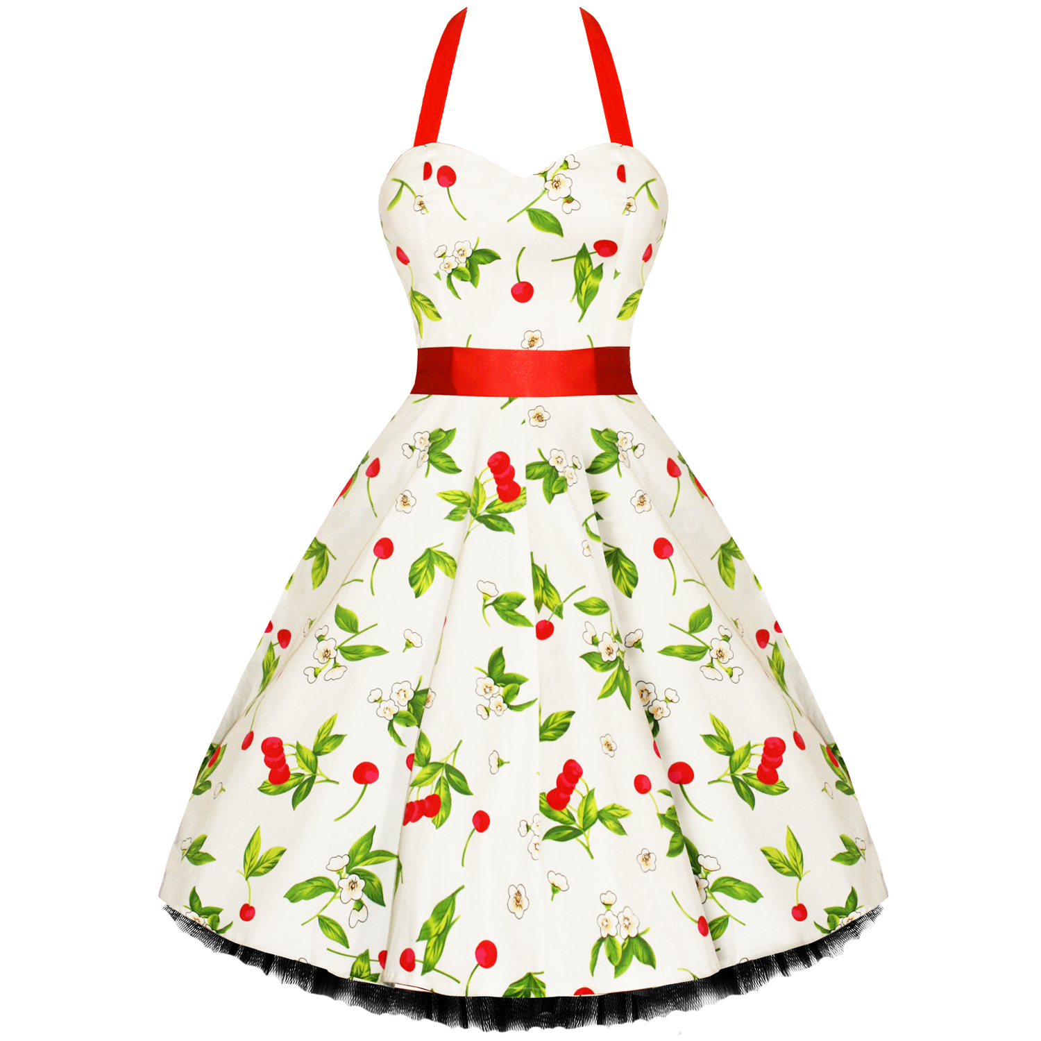 rkh7 hearts roses cherry rockabilly dress pin up vintage. Black Bedroom Furniture Sets. Home Design Ideas