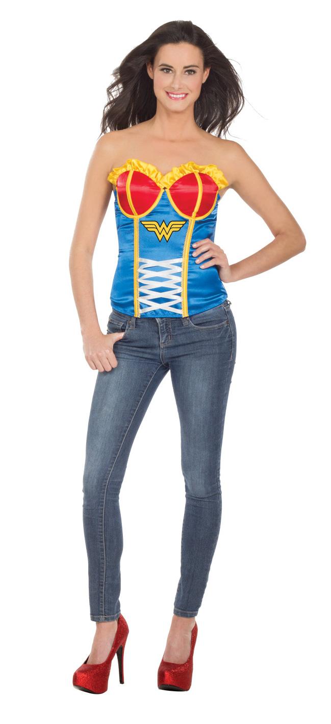 cl11 sexy superhero hero corset bustier top women - Bustier Halloween Costumes